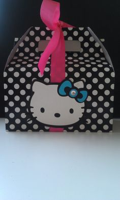 Hello Kitty Handmade Personalized Invitations by SparrowsKreations, $17.50