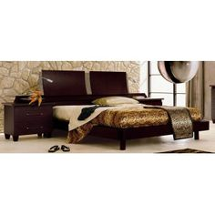 Miss Italia Platform Bed Frame Includes 2 Nightstands - Made in Italy