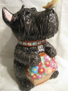 Oh.My.Dog.  I would kill for this!  Mary Engelbreit Scottie Dog Cookie Jar.  Mint condition, Retired | eBay