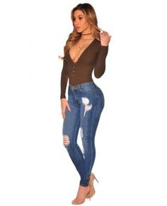 Hollow Fashion Plus Jeans