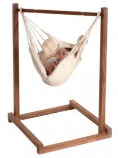 Non-Toxic, Eco-Friendly, and Organic Baby Swings: Magic Cabin Organic Baby Hammock Baby Hammock, Baby Swings, Hammock Stand, Organic Baby, Bebe Love, Baby Lernen, Indoor Swing, Eco Baby, Diy Bebe