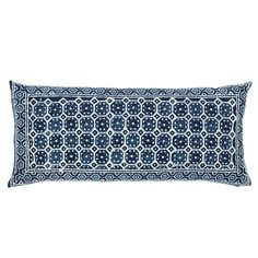Resist Octagon Indigo Pillow by Pine Cone Hill