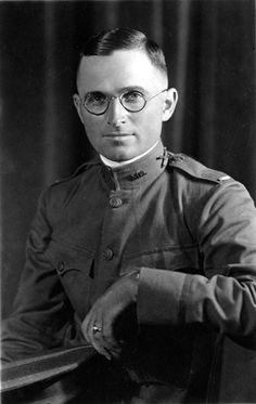 Harry S. Truman in his uniform as a First Lieutenant in the United States Army, Battery D, 129th Field Artillery, 35th Division, September 1917.