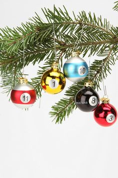 pool ball ornaments. I have. Target also had them.