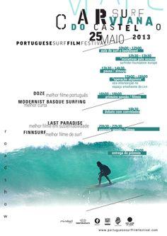 Portuguese Surf Film Festival by Edgar Afonso, via Behance