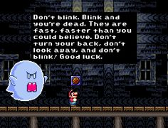 Mario meets the weeping angels