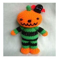Halloween Pumkin  Amigurumi Crochet Pattern  von seaandlighthouse auf DaWanda.com