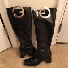 "Gucci boots Black Gucci boots with 3"" heel. Gucci box included. Gucci Shoes Heeled Boots"
