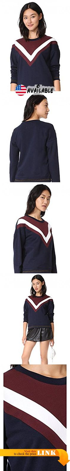 MKT Studio Women's Sienna Sweatshirt, Navy, Small. French terry. 100% cotton. Wash cold. Width 22.75in / 58cm, from shoulder #Apparel #SHIRT