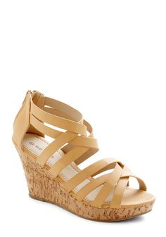 Tasting Tour Wedge in Oak, #ModCloth