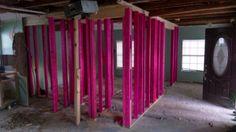 Demo electrical, framed interior walls Nov 19