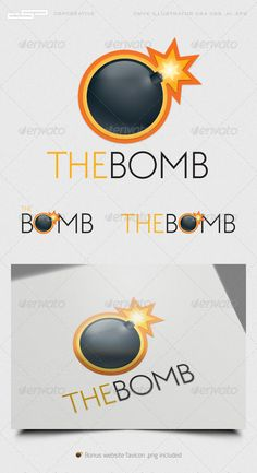 Exploding Kittens, Nuclear Bomb, Professional Logo, Logo Color, Sports Logo, Logo Templates, Fonts, Eagle, Logo Design