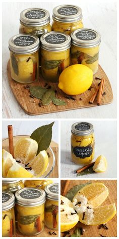 Looking for DIY Christmas gifts? Make these easy and beautiful jars of homemade preserved lemons for a tasty and unique gift idea. Gift tags and recipe ideas included.
