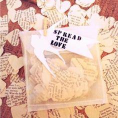 Book Page Wedding Confetti. Simple, yet elegant.  Adapt for Book Club night decorations.