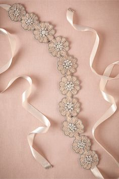 LOVE THIS! why must they make SASHES, so expensive Zinnia Sash from BHLDN