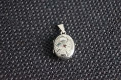 Vintage Sterling Silver Locket with garnet and chain - Vintage Silver Locket Necklace - 1979 Birmingham Silver - Garnet Locket on Etsy, $69.00 AUD