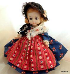 Madame #Alexander #Doll Wendy Ann Face Germany Dress Bent Knee Hard Plastic Vtg