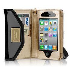MK bags outlet bags outlet online Michael Kors iPhone Wristlet Black Case $33.95