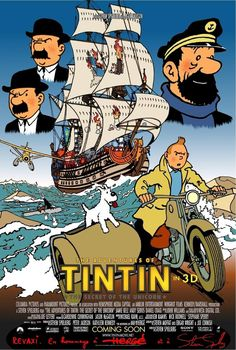 ...sorry, but I think the Tintin movie would've just been better in 2D, cool as the movie actually was. After all, Hayao Miyazaki demonstrates time and time again that 2D can still draw an audience. Moreover, the issue may also be an understanding or lack thereof of what Herge was trying to achieve with the ligne-claire style: a clarity of narrative; that style strips things down to essentials, and the way he used it was often arresting.
