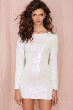 Glamorous Let It Snow Sequin Dress - Cyber Monday