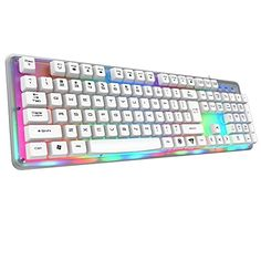 E-3lue K725 Waterproof Colorful Backlit Professional Gaming Keyboard with 22 Non-conflict Keys (White) E-3lue http://www.amazon.com/dp/B00XTZJ4R8/ref=cm_sw_r_pi_dp_9Spqwb18629A7