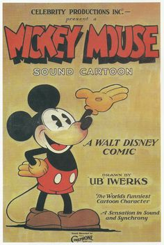 Vintage Movie Poster Art Print, Mickey Mouse, 1929