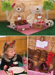 Teddy Bear Garden Picnic Birthday Party // Hostess with the Mostess®