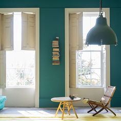 VARDO - real teal blue 10 Beautiful Rooms: new Farrow & Ball Colours – Mad About The House Decor, Living Room Green, Interior, Living Room Paint, Colours, Living Room Remodel, Vardo, Farrow And Ball Paint, Farrow Ball