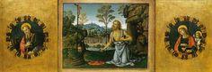Pinturicchio. Pala di santa Maria dei Fossi, predella, san Girolamo nel deserto