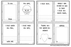 Father's Day minibook template pages.