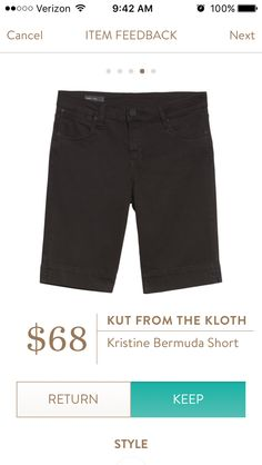 This length for shorts - just above or just below the knee