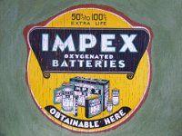 Impex Batteries (c.1940) Clunes VIC Jan1990 87-23 Sign I, Juventus Logo, Team Logo, Logos, Sports, Hs Sports, Sport, A Logo