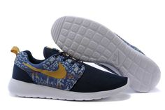 sports shoes b5c73 63963 Cheap Nike Roshe Run 2 Gold Blue White Black