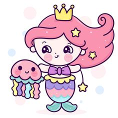 Hug Cartoon, Cartoon Unicorn, Cute Unicorn, Cartoon Kids, Girl Cartoon, Princess Cartoon, Cute Princess, Mermaid Princess, Easy Mermaid Drawing