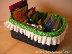 koszyczek z wikliny papierowej