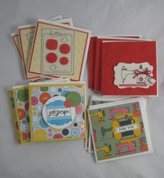 Sew Sweet 3x3 Cards -Stampin' Up by Miechelle Weber www.stampinu.wordpress.com