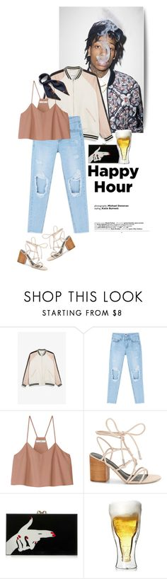 """""""Happy Hour"""" by juhh ❤ liked on Polyvore featuring Monki, TIBI, Rebecca Minkoff, Charlotte Olympia, Mulberry, happyhour, juhh and Juliajulian"""