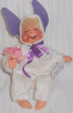 ANNALEE DOLLS Pajama kid Child Bunny Rabbit Easter Halloween Costume 1985 #Annalee #Dolls