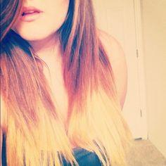 ombre hair.