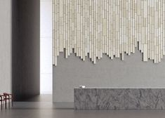 Stockholm design studio Form Us With Love has added a collection of acoustic panels that look like wood to its Baux architectural products line Interior Design Living Room, Modern Interior, Living Room Decor, Feature Wall Design, Acoustic Wall Panels, Den Decor, Acoustic Design, Slat Wall, Contemporary Design