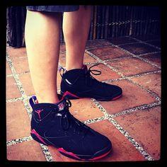 unDS time. fresh pair of Jordan 7 Raptors by @lastchance_21