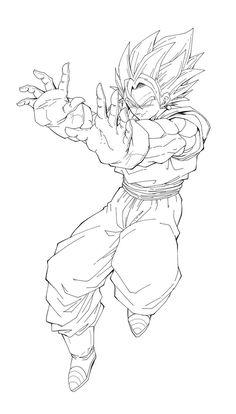 Dragon Ball Gt, How To Draw Goku, Goku Drawing, Vegito Y Gogeta, Manga Dragon, Goku Wallpaper, Coloring Pages Inspirational, Fusion Art, Anime Sketch