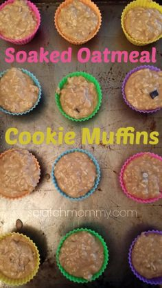 **Soaked Oatmeal Cookie Muffin Recipe!**  Plus, a review of my new muffin cups AND a giveaway!