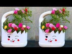 Diy Crafts Hacks, Diy Home Crafts, Garden Crafts, Diy Arts And Crafts, Bottle Garden, Diy Bottle, House Plants Decor, Plant Decor, Recycled Garden Art