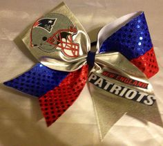 New England Patriots Cheer Bows by emNmoBows on Etsy