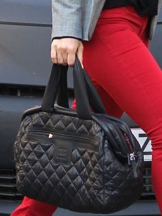 Quilted #Chanel gets puffy and nylon when spotted on #BarRafaeli tote.