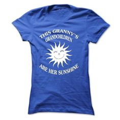 THIS GRANNYS  GRANDCHILDREN ARE HER SUNSHINE [MOTHER DA - #gift ideas #cool gift. THE BEST => https://www.sunfrog.com/Names/THIS-GRANNYS-GRANDCHILDREN-ARE-HER-SUNSHINE-[MOTHER-DAY]-Ladies.html?68278