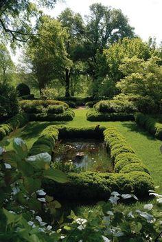 List of Beautiful Gardens and Fountains Formal Gardens, Outdoor Gardens, Outdoor Rooms, Landscape Architecture, Landscape Design, The Secret Garden, Water Features In The Garden, Garden Cottage, Garden Homes