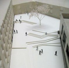 Amazing architectural model äsentation concept model architecture student _conceptualarchitecturalmodels pinned by. Landscape Architecture Model, Concept Models Architecture, Landscape Model, Landscape Design Plans, Stairs Architecture, Classical Architecture, Urban Landscape, Open Space Architecture, Landscape Stairs