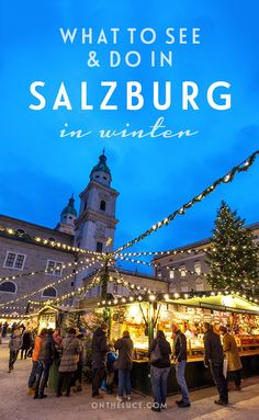 What to do and see in the city of Salzburg in winter from glühwein at the Christmas markets and gorgeous viewpoints to music from Mozart and the Sound of Music on a weekend break with to Austria. Salzburg Christmas, Christmas In Europe, Europe Holidays, Christmas Travel, Christmas Markets, Winter Europe, Christmas 2019, German Christmas, Winter Christmas